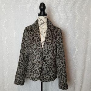 Loft Leopord Print Jacket